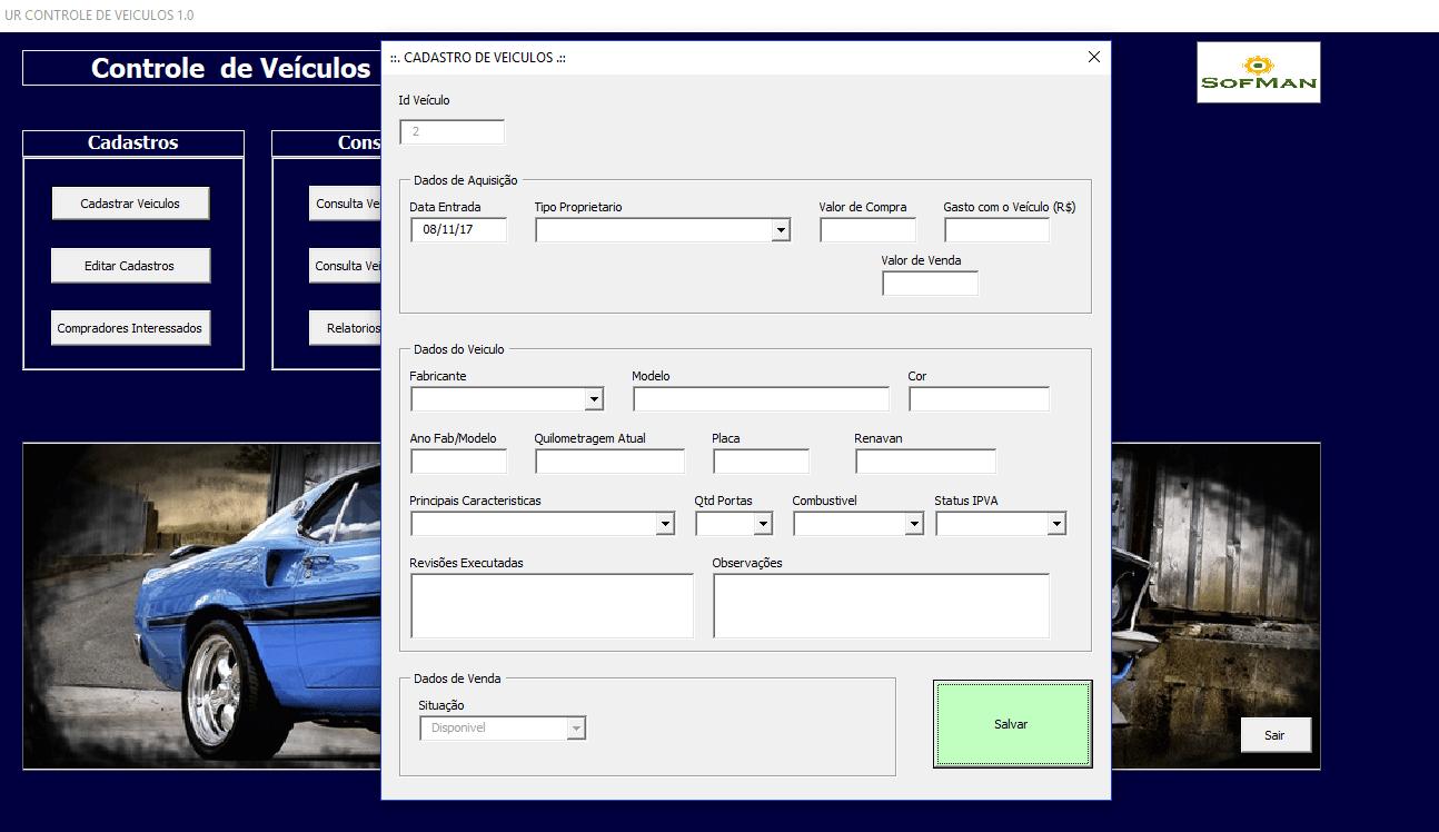planilha controle de veículos excel