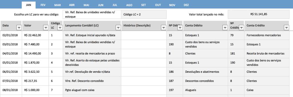 Como fazer os seus lançamentos contábeis no Excel 2