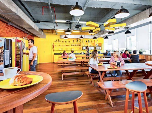 innovative cafeteria of a company