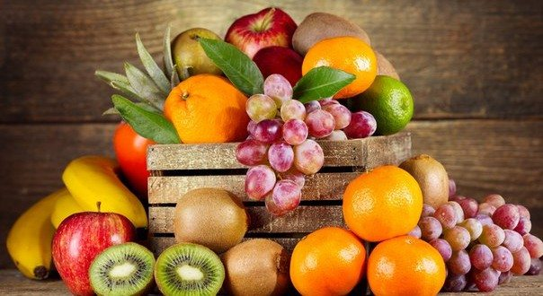 productivity and food at work - fruits