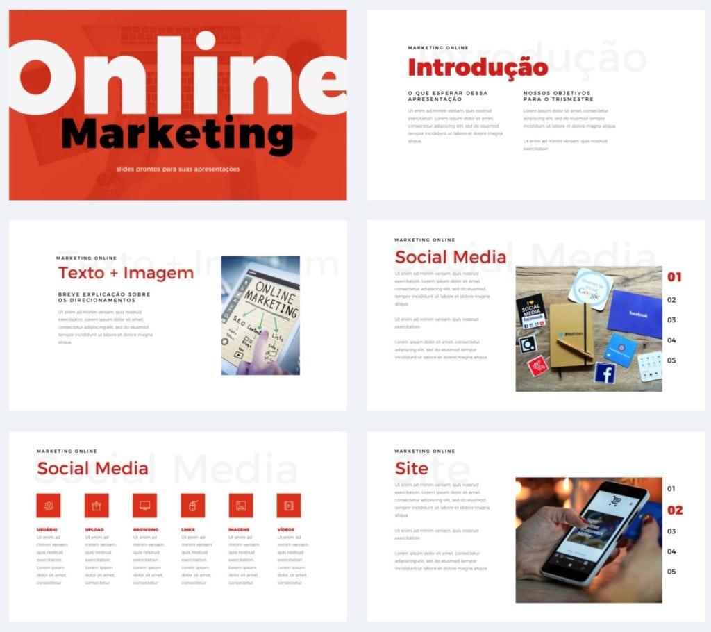 Apresentação de Marketing Online