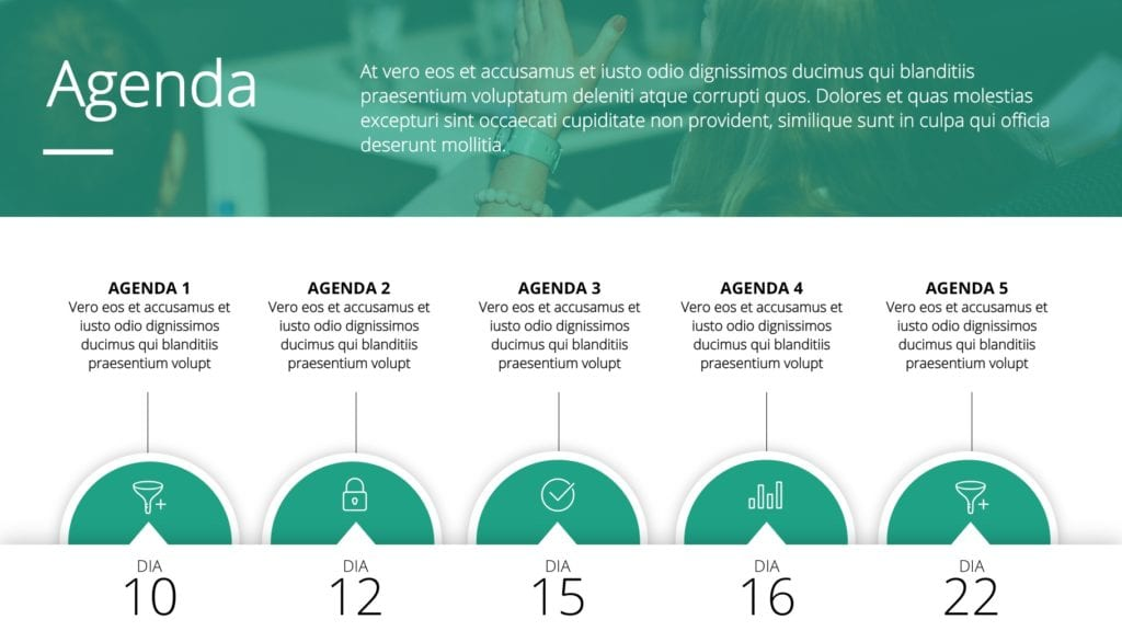 Temas para PowerPoint Verdes