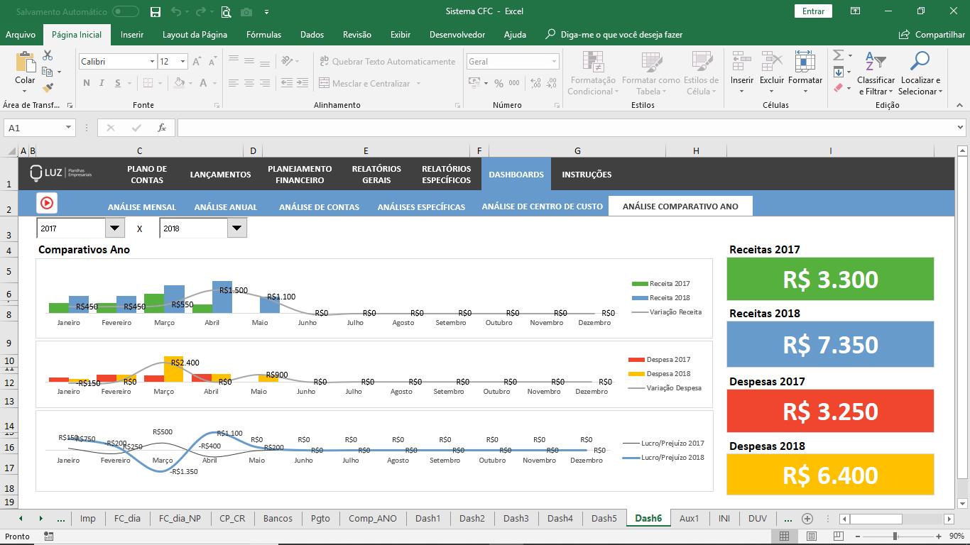 Sistema de Gestão Financeira Empresarial em Excel